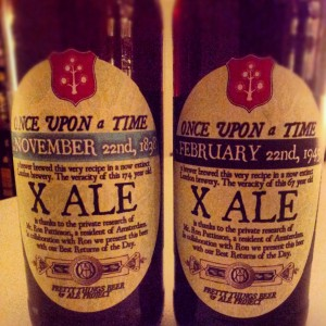 Pretty Things Once Upon a Time, February 22nd, 1945, X Ale vs February 22nd, 1838, X Ale label