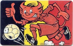 Red-Devils-Red-devil-with-Belgian-flag-in-background